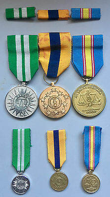 Sets of 3 Full Size medals, 3 miniature medals & bars of An Garda Siochana
