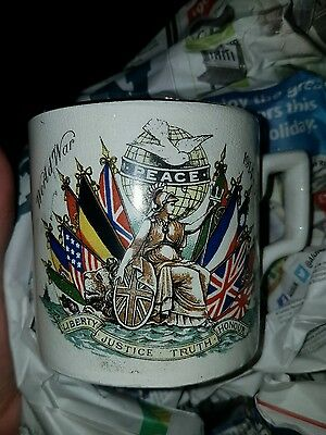 Vintage Wwi Peace Cup 1914-1919 - Sir David Beatty's Historical Signal