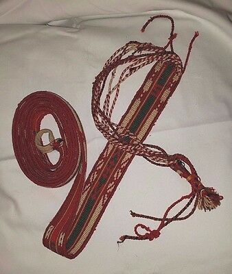 Traditional Bulgarian folk costume piece, woven sash - poyas, pojas