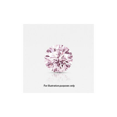 Fancy Vivid Pink 0.28 carat VVS2 Round lab-created diamond - IGI certified