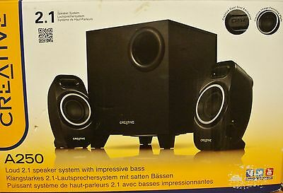 Creative 2.1 A250 Speaker System with Sub Woofer, NEW