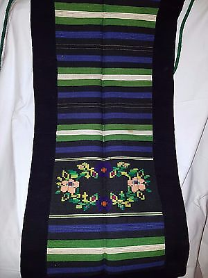 Woven and Embroidered Bulgarian Folk Costume Apron #3