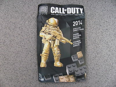 New Mega Bloks Call of Duty Exclusive ghosts Gold Astronaut figure  new RARE