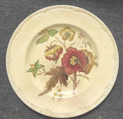 """2- Vintage Clarice Cliff - Newport Pottery -10 1/4"""" floral pattern Dinner Plates"""