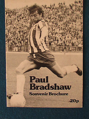 Paul Bradshaw Testimonial Programme 1980? - Sheffield Wednesday v Leeds United