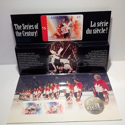 1997 Canada Commemorative Sterling Silver Dollar, Stamp & Phone Card