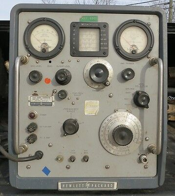 VHF Signal Generator HP M# 608C 115-230v 50-1000 cycles Good & Cheap