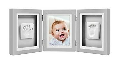 Pearhead Babyprints Baby Handprint and Footprint Deluxe Desk Photo Frame &