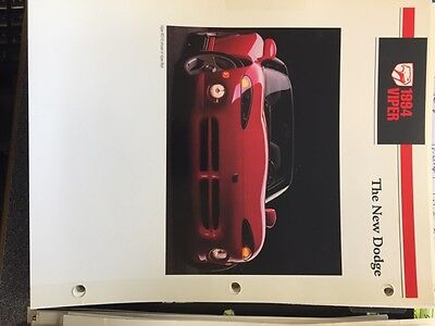 1994 Dodge Viper And Dodge Neon Dealer Imformaiton Guide Brochures