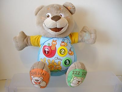 Chicco Count With Me Bilingual English/French soft plush Bear