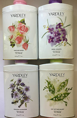 Yardley Perfumed Talc 200gram Choose From 4 Fragrances