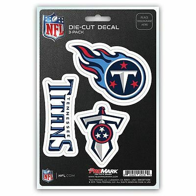 NFL  Tennessee Titans Team Decal - Pack of 3