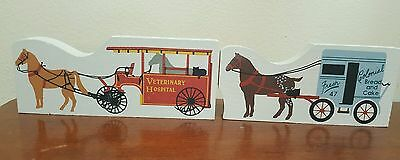THE CAT'S MEOW Veterinary Hospital & Colonial Bread Horse Wagon Accessory Lot