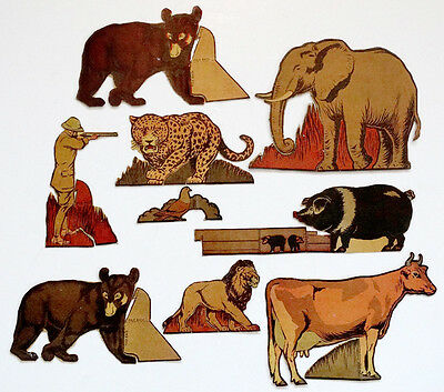 1930's Vintage POST TOASTIES Cut-Out PAPER DOLL Farm Animal SAFARI Jungle Hunter
