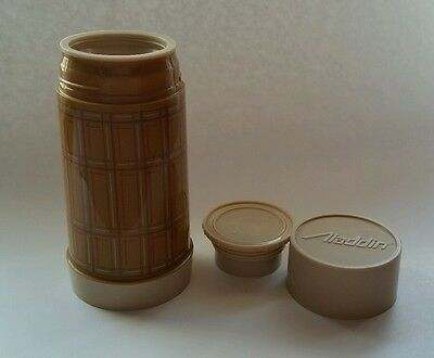 Aladdin Best Buy Thermos Brown Plaid Bottle Soup Coffee 10 oz Wide Mouth Retro