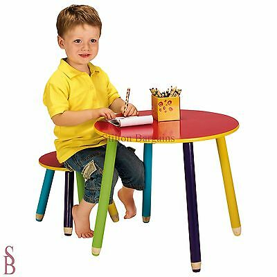 Pencil Kids Table and Stool - BNIP - kid's child children wooden furniture