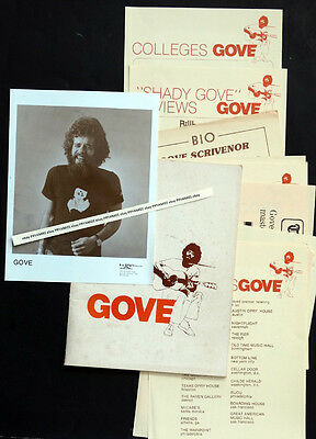 ORIGINAL Vintage YOUNG GOVE SCRIVENOR Concert Press Kit & Photo / FOLK COUNTRY
