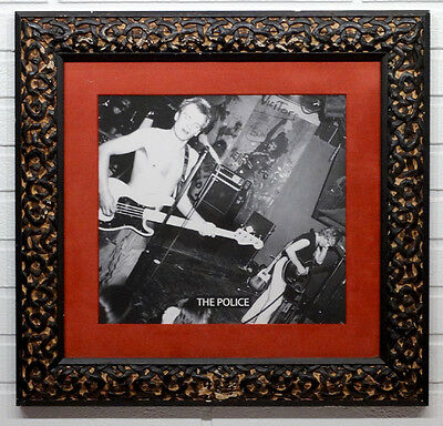 STING Vintage THE POLICE High Quality FRAMED PHOTOGRAPH in ITALIAN WOOD FRAME