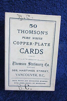 RareThomson Stationery Company Copperplate Visiting Cards