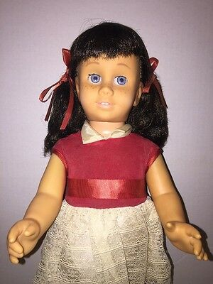 Vintage Mattel 1960 Chatty Cathy Pigtails Blue Eyes Hard Head!