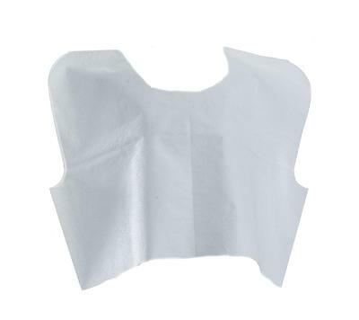 """Medline Disposable Patient Capes 3-Ply White - 30"""" x 21"""" Case of 100"""