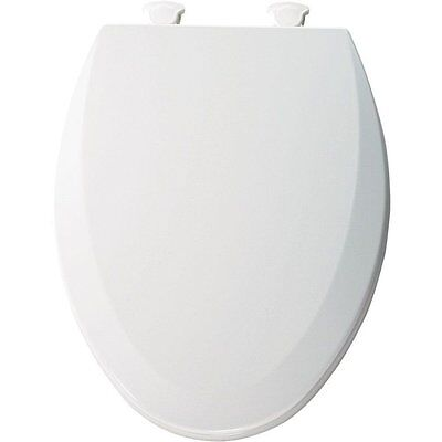 Bemis 1500EC000 Molded Wood Elongated Toilet Seat with Easy Clean and Change Hin