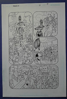 Rebels Vol. 2 #5 pg.7 Aug'09 Original Art by St. Aubin & Hanna