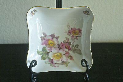 Vintage SCHUMANN ARZBERG  Germany Hand Painted WILD ROSES Candy Dish / BOWL Mint