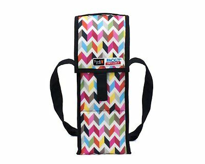 Packit, CA Freezable Wine Cooler Bag with Zip Closure, Single Bottle, Ziggy