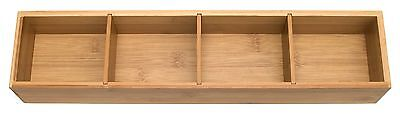 Lipper International Bamboo Drawer Organizer with 3 Dividers, Brown