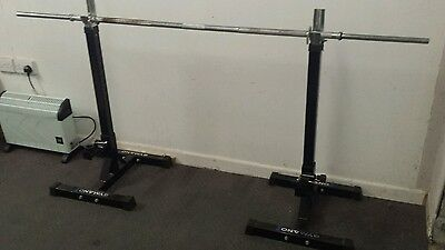 squat stands and barbell