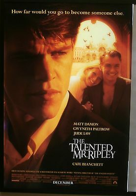 The Talented Mr Ripley Movie Poster 1999 USA One Sheet, Original