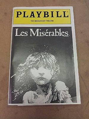 ^ Les Miserables Playbill, The Broadway Theatre