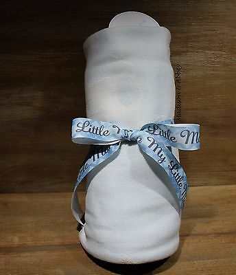 "Edgehill Collection Pale Blue Baby Receiving Blanket Approx. 32"" x 36"" ~ NWT"