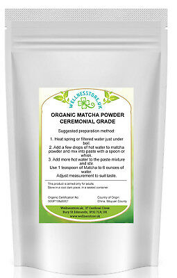 Certified Organic Matcha Green Tea Powder Ceremonial Grade 25g,100g ,200g, 500g