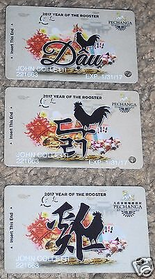 Complete Set Of 3 Pechanga Casino Slot Players Club Cards Year Of The Rooster