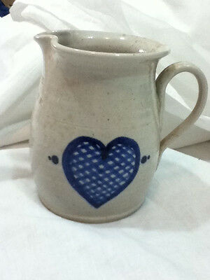 Northwood Pottery New Hampshire Sm Hearts Pitcher Lg Creamer 1989 Earthenware