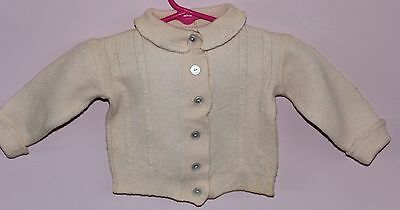 Infant Sweater - Handknitted - Vintage 1938 - Davison Paxton Import - Pink