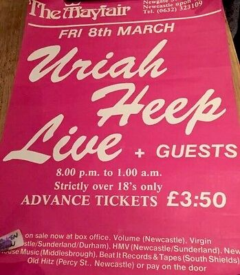 Uriah Heep Gig Poster Newcastle Mayfair