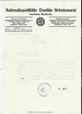 German Empire, letterhead and cover by NS party, one-day-flash-sales # 22
