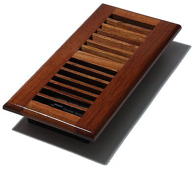 Decor Grates WLC410-N 4-Inch by 10-Inch Wood Floor Register, Natural Brazilian C