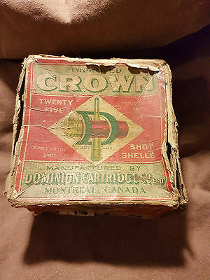Crown 12 gauge shell box only by Dominion Cartridge
