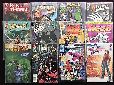 ALL #1 Issue Lot of 12 Comic Bks (f) - WildCATS, Birds of Prey, Huntress, Fury+!