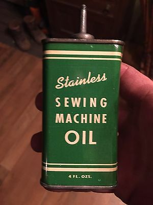 Stainless Sewing Machine Oil Handy Oiler Household Tin 3 Oz  Lead Top #3