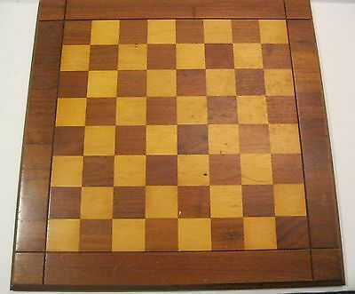 "VTG Drueke No. 62 Solid Walnut Chess Board - 18"" with 1.75"" Squares"