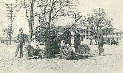 WWII Org Vintage PC- Fort Eustis Virginia- 37mm AA Gun- Cannon- Artilley- 1942
