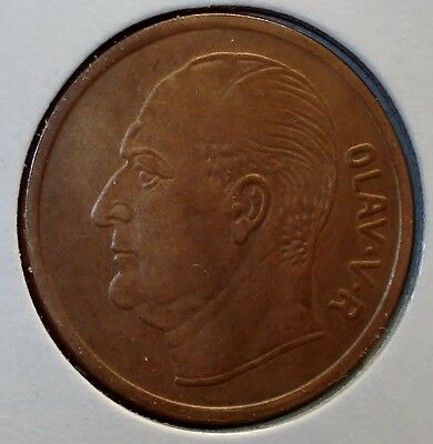 1963 Five Ore Coin from Norway
