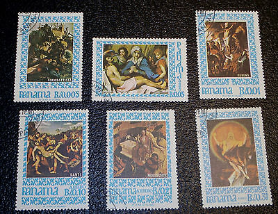 1967 Panama Easter Set Complete, Used, Cancelled-to-Order, Scott #476, 476A to E