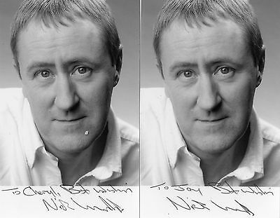 2 Authentic Signed Nicholas Lyndhurst 6X4 Ofah Official Photo.real Signaturescoa