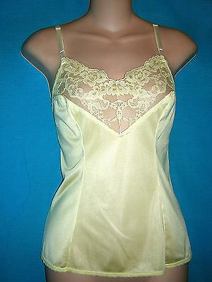 *wonderful Bright Yellow Nylon Vassarette Camisole **m/l**lingerie